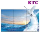 55 mur visuel d'affichage à cristaux liquides de pouce 3.7mm Samsung avec l'encadrement étroit