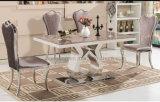 Классицистическая рамка утюга обедая стул и стул с крышкой кожи PU