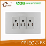6 [بين] جدار خزفيّة كهربائيّة إلكترونيّة إثرنيت تايلاند نوع مقبس تجويف