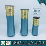 زرقاء يلوّح مستحضر تجميل زجاجيّة غسول مضخة زجاجة ومستحضر تجميل رفاهية مرطبان