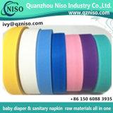 Bon resceller la bande facile de film de bande/de poche ruban adhésif pour les matières premières de serviette hygiénique