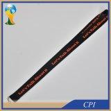 sagola nera larga del poliestere di 25mm con un testo di colore per fare pubblicità