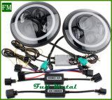 7 인치 지프 & Harley를 위한 자동 LED 헤드라이트 45W 천사 눈