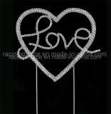 ينشّط فضّة حالة حبّ قلب بلّوريّة [رهينستون] قالب [توبّر] لأنّ عرس وحزب زخرفة