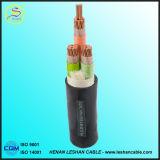 4 cable de transmisión medio acorazado del voltaje 4X95 mm2 del alambre de acero de las memorias