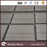 Telhas de madeira do mármore da veia do branco chinês/laje para o revestimento