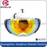 Lunettes 2016 protectrices UV de planche à roulettes polarisées par lunettes promotionnelles de ski de lentille de vente en gros d'usine de la Chine doubles