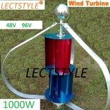 1000W AC48V/96 Q 작풍 가정 응용을%s 수직 바람 발전기
