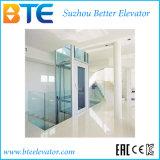 Ce Vvvf Mrl Home Elevator com cabine de vidro transparente