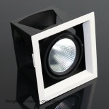 Negro Diseño Empotrable COB 18W LED Grille Luces Downlight con Ce RoHS