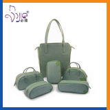 高品質新しいデザイン方法緑PUの女性袋