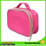 큰 수용량 형식 실용적인 분홍색 두 배 지퍼 장식용 부대에 의하여 주문을 받아서 만들어지는 로고