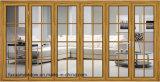 Алюминиевые стеклянные двери стекла Guangdong дверей складчатости