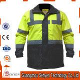 Куртка отражательной безопасности визави людей Hi водоустойчивая в желтом цвете/черноте