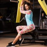 女性の連続した適性のトレーニングの圧縮の堅い体操のスポーツ・ウェア
