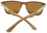 Migliori occhiali da sole dell'acciaio inossidabile di qualità Fqmw162421, vetro di Sun di legno di bambù del tempiale, UV400 Ce Hotsale Sunglass