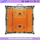 P6, fábrica de interior de fundición a presión a troquel a todo color de alquiler del panel de la tarjeta de la pantalla de visualización de LED de la dimensión de una variable P3