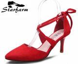 Faux-lederne Frauen-heiße Verkaufs-Schuhe