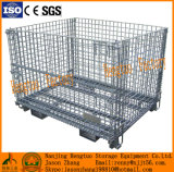 Soudés empilables Mesh Container, Popular Storage Wire Mesh Cage