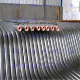 GR2 titanio con revestimiento de cobre de tubo / tubo de ánodos para galvanoplastia