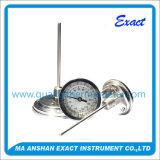 Tipo assiale termometro bimetallico del fronte della manopola