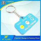 Fabrik-Preis kundenspezifischer einfacher weicher Belüftung-Gummischlüsselring für Förderung (XF-KC-P29)