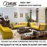 Moderne Freizeit-echtes Leder-geschnittensofa für Wohnzimmer-Möbel As846