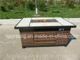 Mobília ao ar livre do clube da barra do Weave do poço do incêndio com tabela cerâmica
