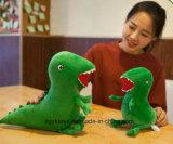 다른 크기를 가진 주문 견면 벨벳 공룡