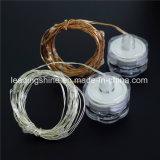 Impermeable Cr2032 cadena de cobre de luz colorida