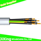 Cable estándar de cobre del cable de transmisión del conductor 4X2.5mm2 China Rvv