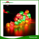 Le lampade solari 50LEDs impermeabilizzano gli indicatori luminosi solari esterni della stringa dell'indicatore luminoso leggiadramente della decorazione variopinta LED del giardino