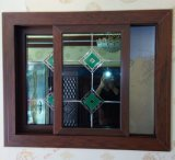 Окно Woodgrain PVC/UPVC высокого качества сползая (BHP-SW15)