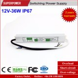 Fuente de alimentación impermeable constante de la conmutación del voltaje 12V 36W LED IP67