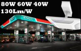 Indicatore luminoso americano 150W del baldacchino della stazione di servizio LED del gas dell'installazione del soffitto del driver di Meanwell