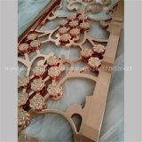 Diviseur de pièce en aluminium d'écran en métal d'or de Rose