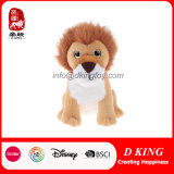 선전용 선물 견면 벨벳 동물성 앉는 사자에 의하여 채워지는 연약한 견면 벨벳 장난감