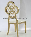 Alta calidad de acero inoxidable de lujo que cena la silla para Slaes