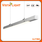 130lm/W lumière linéaire pendante blanche chaude en aluminium de l'éclairage DEL