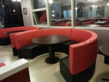 Restaurante popular del sofá de madera de los muebles antiguos que cena el sofá (UL-LS007.3)