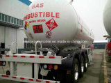 3 Ejes 56cbm Gas Tanker 56000 litros de servicio pesado tanque de GLP Remolque