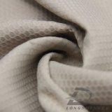 Agua y de la ropa de deportes tela tejida chaqueta al aire libre Viento-Resistente 100% de la pongis del poliester del telar jacquar de la tela escocesa del balompié abajo (E139)
