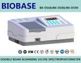 Spectrophotometer da exploração UV/Vis do feixe do dobro do laboratório da alta qualidade