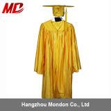 Or brillant de robe de chapeau de la graduation des enfants en gros
