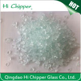 Lanscapingのガラス砂によって押しつぶされる薄緑のガラスは装飾的なガラスを欠く