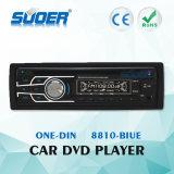 Speler van de Auto DVD van het Comité van de Speler van de Auto DVD van de Lage Prijs de Enige DIN van Suoer Afneembare met CE&RoHS (8810-blauw)