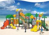 Оборудование спортивной площадки Platstic популярных детей Kaiqi напольное с Multi скольжениями и альпинистами