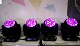 A lavagem quente 19PCS 15W 4 da venda em 1 luz principal movente DJ ilumina-se
