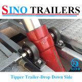 Hydraulische Tippende Aanhangwagen Achter elkaar met platte kop