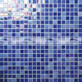 azuis de 15X15mm com a telha de vidro do mosaico do derretimento quente Iridescent da matiz (BGC013)